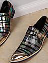 Bărbați Pantofi Nappa Leather Primăvară Toamnă Pantofi formale Mocasini & Balerini pentru Casual Party & Seară Auriu Negru