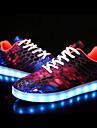 Pentru femei Pantofi PU Țesătură Toamnă Iarnă Pantofi Usori Tălpi cu Lumini Adidași Toc Jos Vârf rotund pentru În aer liber Mov Rosu Verde