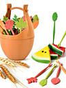 6 buc set păsări formă creativ de legume fructe furculiță tacamuri set de bucătărie aleatoare culoare
