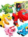 Robotar Leksaksbåtar Racerbil Leksaker Dinosaurie Djur Djur Fordon Djur omvandlings Föräldra-Barninteraktion Klassisk Djurmönstrad Mjuk