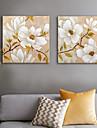 Imprimeu Canava Rustic Modern,Două Panouri Canava Imprimeu Decor de perete Pagina de decorare