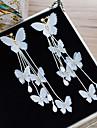 Pentru femei Cristal Cercei cu Clip cercei Floare Nod Funda Elegant Bijuterii Alb Pentru Nuntă Concediu 1