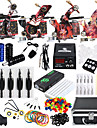 Solong Tattoo Tattoo Machine Professional Tattoo Kit 4 alloy machine liner & shader High Quality LCD power supply 2 x alloy grip 50