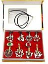 Mer accessoarer Inspirerad av Naruto Animé Cosplay-tillbehör Ringar Dekorativa Halsband Krom