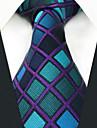 bărbați de partid de muncă cravată raion - bloc de culoare verifica jacquard