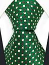 masculin de partid de muncă cravată raion - polka dot color bloc jacquard