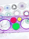 Leksaksritplattor Spirograph Leksaker Rektangulär Trädgårdstema Målning Kul Föräldra-Barninteraktion Ny Design Mjuk plast Barn Pojkar
