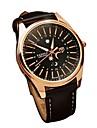 בגדי ריקוד גברים שעון יד Japanese קווארץ עור אמיתי שחור / חום 30 m שעונים יום יומיים אנלוגי יום יומי אופנתי - שחור / חום כסף /  שחור לבן / Beige