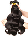 3 Bundler Brasiliansk hår Krop Bølge 10A Jomfruhår Menneskehår, Bølget 8-28 inch Menneskehår Vævninger Menneskehår Extensions