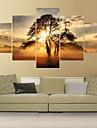 Impressions sur toile roulees Contemporain, Cinq Panneaux Toile Carre Imprime Decoration murale Decoration d\'interieur