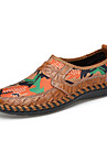 Homme Chaussures Cuir / Similicuir Printemps / Ete Confort Mocassins et Chaussons+D6148 Marron / Vert / Bleu