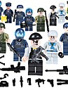 Building Blocks Military Blocks Construction Set Toys 19 pcs People Soldier compatible Legoing School Stress and Anxiety Relief Parent-Child Interaction Classic People Image Unisex Boys\' Girls\' Toy