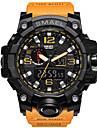 SMAEL Ανδρικά Αθλητικό Ρολόι Στρατιωτικό Ρολόι Βραχιόλι Ρολόι Ψηφιακή Συνθετικό δέρμα με επένδυση Μαύρο / Μπλε / Κόκκινο 30 m Ανθεκτικό στο Νερό Συναγερμός Ημερολόγιο Αναλογικό-Ψηφιακό / Δύο χρόνια