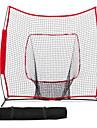 7'×7' Baseball / Softball Net Frapper a la pratique Pitching Batting Contagieux Avion-ecole Pliage Accessoires d\'entrainement 600D