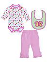 Bebelus Fete Set Îmbrăcăminte Buline Bumbac Zilnic Primăvară Toamnă Manșon Lung Activ Roz Îmbujorat