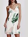 女性用 パンツ - フラワー ホワイト, バックレス ホワイト / ストラップ