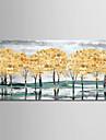 Hang målad oljemålning HANDMÅLAD - Abstrakt Landskap Moderna Duk