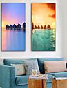 Impression sur Toile Moderne, Deux Panneaux Toile Format Vertical Imprime Decoration murale Decoration d\'interieur