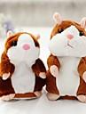 Parler de Hamster Souris Hamster Animaux en Peluche Mignon Marche Parlant Vibrer Nods Repete ce que tu dis Electrique Enfant