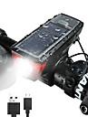 Koplamp fiets LED Wielrennen Waterbestendig Snelsluiting Zonne-Energie 350lm Lumens Oplaadbare batterijen Kamperen / wandelen / grotten