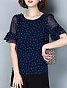 Pentru femei Mărime Plus Size Bluză Vintage - Buline Imprimeu Șifon