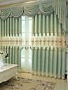 gardiner draperier Vardagsrum Blommig Geometrisk Bomull / Polyester Jacquard