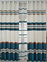 gardiner draperier Sovrum Rand Modernt Bomull / Polyester Pigmenttryck