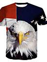 Ανδρικά T-shirt Βασικό - Βαμβάκι Ζώο Στρογγυλή Λαιμόκοψη Στάμπα / Κοντομάνικο