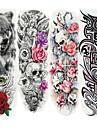 4pcs Klistermärke tecknad serie Tatueringsklistermärken