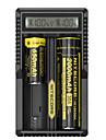 UM20 Batteriladdare Smart Bärbar USB LCD för Li-jon 18650, 18490, 18350, 17670, 17500, 16340(RCR123), 14500, 10440