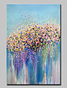 Hang-pictate pictură în ulei Pictat manual - Abstract Floral / Botanic Modern pânză