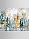 Hang-ζωγραφισμένα ελαιογραφία Ζωγραφισμένα στο χέρι - Αφηρημένο Μοντέρνα Χωρίς Εσωτερικό Πλαίσιο / Κυλινδρικός καμβάς