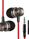 في الاذن كابل Headphones هجين بلاستيك الهاتف المحمول سماعة مع التحكم في مستوى الصوت / ستيريو سماعة