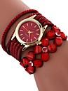 Pentru femei Quartz Ceas La Modă Chineză imitație de diamant PU Bandă Floare Modă Negru Alb Albastru Roșu Maro Pink