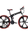 Hopfällbar Cykel Mountainbikes Cykelsport 21 Hastighet 26 tum/700CC SHIMANO TX30 Dubbel skivbroms Springergaffel Bakhjulsupphängning