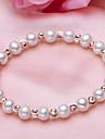 Pentru femei Perle / Apă dulce Pearl Bratari Strand - Argilă, Apă dulce Pearl Simplu, Natură, Modă Brățări Alb Pentru Cadou / Zilnic