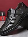 Bărbați Pantofi Piele Vară Confortabili Sandale Negru / Maro