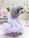Chiens Chats Animaux de Compagnie Robe Vetements pour Chien Noeud papillon Princesse Fleur Violet Rose 100 % Polyester Costume Pour Dalmatien Beagle Carlin Printemps Ete Femme Mode