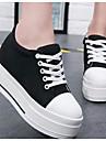 Γυναικεία Παπούτσια Πανί Άνοιξη Ανατομικό Αθλητικά Παπούτσια Creepers Στρογγυλή Μύτη Λευκό / Μαύρο