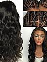 Remy-hår Peruk Brasilianskt hår Vågigt 130% Densitet Med Babyhår Mjuk Med blekta knutar obearbetade Naturlig hårlinje Naturlig Korta Lång