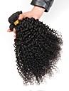 Eurasiskt hår Lockigt Human Hår vävar / Hårförlängningar av äkta hår Hårförlängning av äkta hår Förlängning / Heta Försäljning Svart Alla