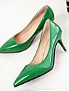 Pentru femei Pantofi PU Primavara vara Confortabili Tocuri Toc Stilat Rosu / Verde / Roz