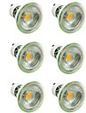 6pcs 7W 500lm GU10 / MR16 Spoturi LED 1 LED-uri de margele COB Intensitate Luminoasă Reglabilă / Decorativ Alb Cald / Alb Rece 220-240V