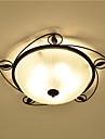 3-luz Montagem do Fluxo Luz Ambiente Acabamentos Pintados Metal Vidro Protecao para os Olhos 110-120V / 220-240V Lampada Nao Incluida / E26 / E27