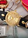 Pentru femei Unic Creative ceas Simulat Diamant Ceas Quartz Negru / Roșu / Violet Cronograf imitație de diamant Analog femei Creative Modă - Albastru Fructe verzi Negru / Rose Red Un an Durată de