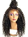 Remy-hår Peruk Brasilianskt hår Sexigt Lockigt Lockigt Frisyr i lager 130% Densitet Med Babyhår Till färgade kvinnor Svart Korta Lång