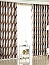 Mörkläggning Gardiner draperier Sovrum Rand Polyesterblandning Jacquard