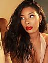 Remy-hår Peruk Brasilianskt hår Naturligt vågigt Vågigt 130% Densitet Med Babyhår Med blekta knutar obearbetade Afro-amerikansk peruk
