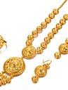 Pentru femei Chainul gros / Lung Set bijuterii - Boem, Modă, Boho Include Brățări cu Lanț & Legături / Cercei Rotunzi / Lănțișoare Auriu Pentru Petrecere / Cadou / Inel