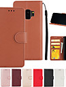 Capinha Para Samsung Galaxy S9 / S7 edge Carteira / Porta-Cartao / Com Suporte Capa Protecao Completa Solido Rigida PU Leather para S9 / S9 Plus / S8 Plus